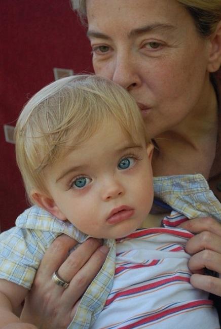 ლიკა ქავჟარაძე შვილიშვილთან ერთად